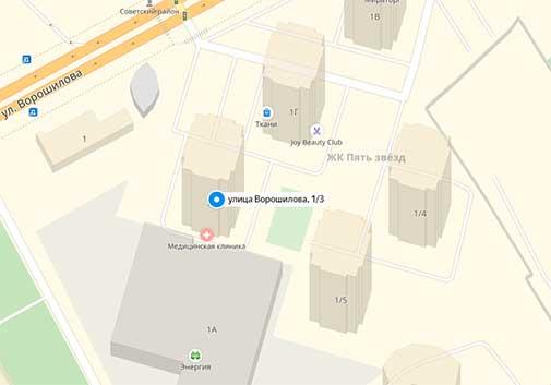 контакты на карте